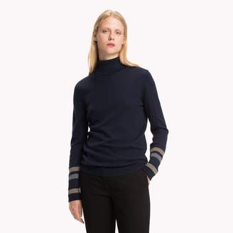 Tommy Hilfiger Shimmer Stripe Turtleneck