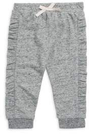 Splendid Baby Girl's Melange Ruffle Sweatpants