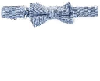 Harmont & Blaine Junior zig-zag pattern bow tie