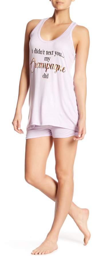 Curvy Champagne Tank Pajama Set