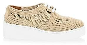 Clergerie Women's Taille Raffia Platforms Sneakers