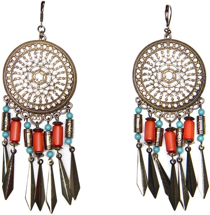 MANGO TOUCH - Long ethnic earrings