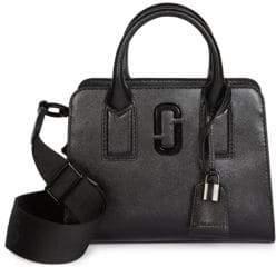 Marc Jacobs Little Big Shot Coated Leather Top Handle Bag