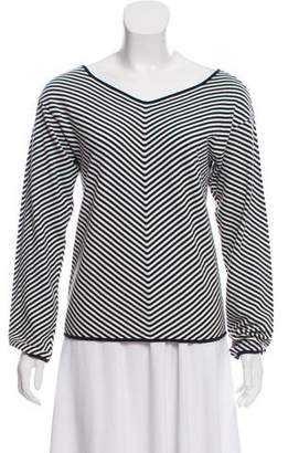 Armani Collezioni Striped V-Neck Top