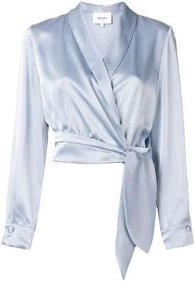 Nanushka wrap front blouse