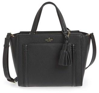 Kate Spade New York 'orchard Street - Dillon' Tassel Leather Satchel $428 thestylecure.com