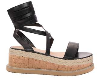 53029003d73a Missy Empire Missyempire Willow Black PU Tie Up Espadrille Platform Sandals