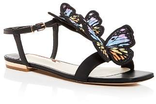 Sophia Webster Women's Riva Embroidered Butterfly T-Strap Sandals
