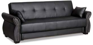 Serta Ainsley Convertible Sofa Black