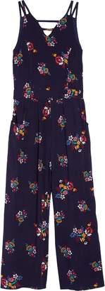 Zunie Floral Print Jumpsuit