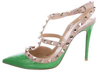 Valentino Rockstud Ankle Strap Pumps $725 thestylecure.com