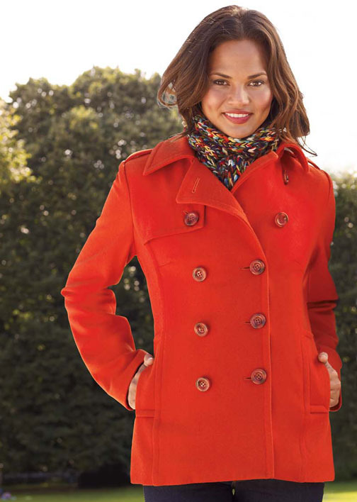 Maria Classic Long Peacoat With Thinsulate