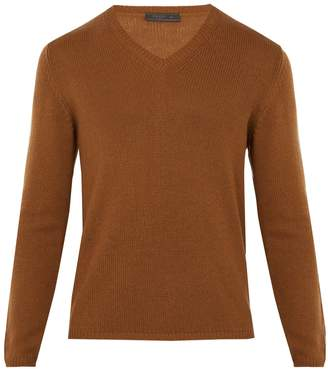 Prada V-neck cashmere sweater