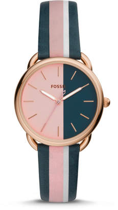 Fossil Tailor Three-Hand Multi-Colored Leather Watch