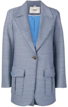 Fendi structured tweed blazer