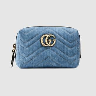 Gucci (グッチ) - 〔GGマーモント〕 日本限定 デニム コスメティックケース