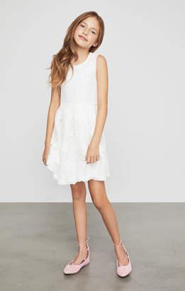 BCBGMAXAZRIA Sleeveless Floral Lace Dress
