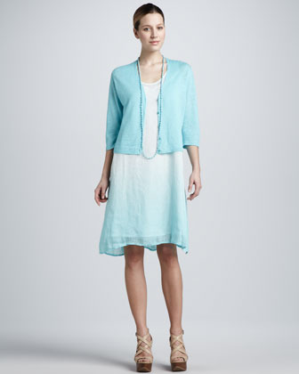 Ombre Layered Linen Dress