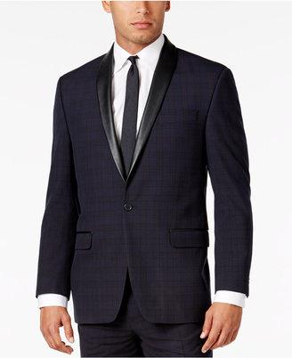 Sean John Men's Classic-Fit Blue Plaid Tuxedo Jacket $275 thestylecure.com