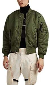 "ALYX Men's ""Relentless"" Thorn-Crown Tech-Twill Bomber Jacket - Green"
