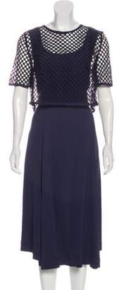 Akris Punto Midi Dress Set Navy Midi Dress Set