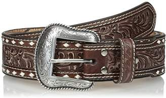 Nocona Men's Wide Cross Buckstitch Belt