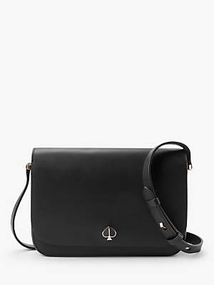 Kate Spade Nicola Medium Flap Over Leather Shoulder Bag, Black