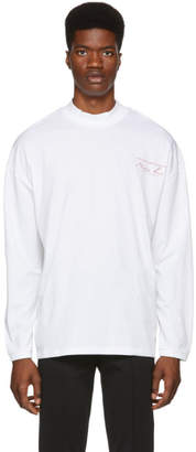 Martine Rose White Sweats Funnel Neck T-Shirt