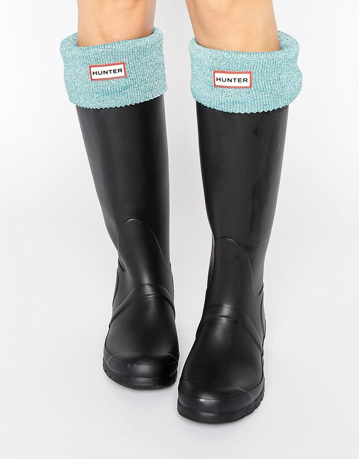 Hunter Hunter Long Glitter Cuff Boot Sock