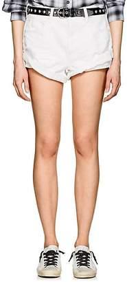 "Alexander Wang Denim x Women's ""Hike"" Distressed Denim Shorts - White"