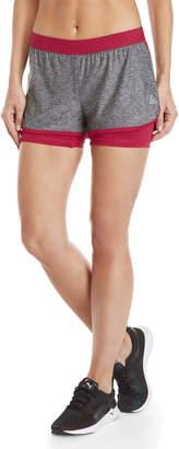 Reebok High Life Logo Waistband Athletic Trim Training Shorts