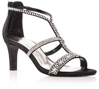 Caparros Women's Loretta Embellished Satin High Heel Sandals