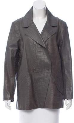 Alexander Wang Embossed Leather Blazer