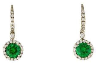 Mark Patterson 18K Diamond & Tsavorite Drop Earrings