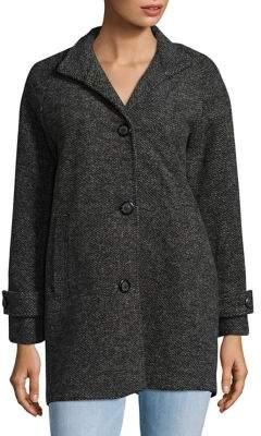 Jones New York J Petite Textured Long Sleeve Coat
