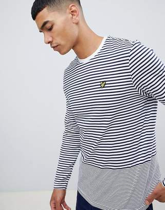 Lyle & Scott long sleeve stripe t shirt