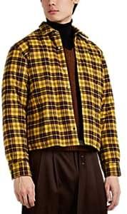Undercover Men's MacLeod Tartan Cotton Flannel Shirt Jacket - Yellow