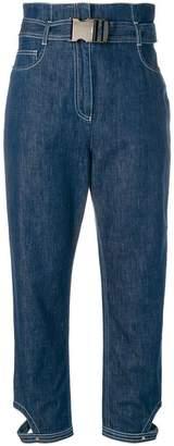 Fendi high-waist cropped jeans
