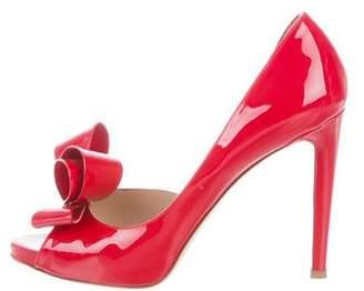 Valentino Semi d'Orsay Peep-Toe Pumps