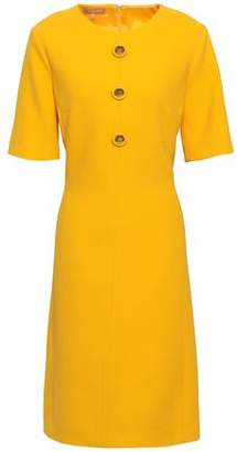 Michael Kors Button-embellished Stretch-wool Crepe Dress