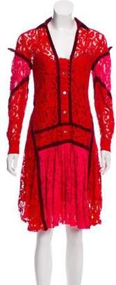 Sacai Colorblock Lace Dress
