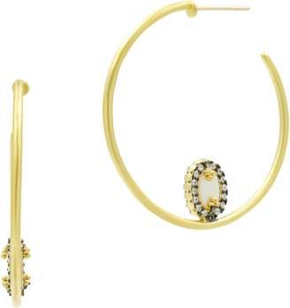 Freida Rothman Imperial Hoop Earrings
