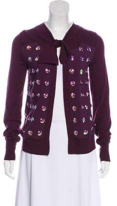 Tory Burch Embellished Long Sleeve Cardigan w/ Tags