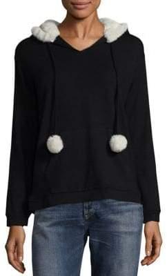 Saks Fifth Avenue Faux Fur Pullover Hoodie