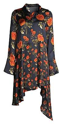 Mother of Pearl Women's April Floral Asymmetrical Shirtdress