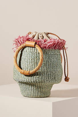 Aranaz Ada Fringed Bucket Bag