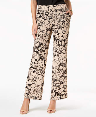 Nine West Printed Wide-Leg Pants