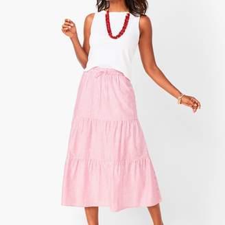 Talbots Tiered Cotton Midi Skirt