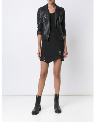 Mugler piercing detail asymmetric skirt $976 thestylecure.com