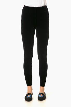 Lysse Black Velvet Leggings